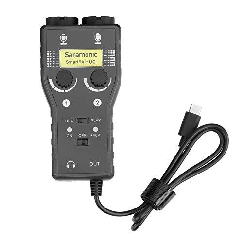 Saramonic SmartRig+ UC 2 pistas XLR & 3,5 mm micrófono