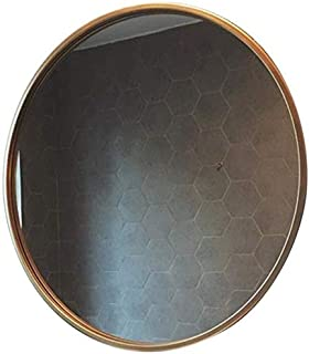 Daily Necessities Mirror with Gold Metal Frame Round Clean Vanity Make Up Mirrors Circular Shaving Mirror Large Dressing Cosmetic Mirror (Size : 70cm) (Size : 70cm)