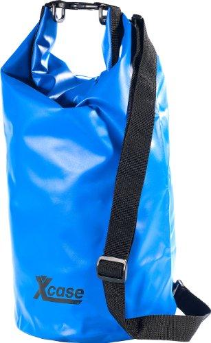 Xcase Wasserfester Beutel: Wasserdichter Packsack 16 Liter, blau (Wasserfester Sack)