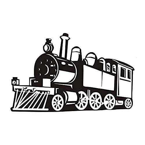 89x56cm jugador tren de vapor de calidad perfecta tren de moda antiguo decoración del hogar etiqueta de la pared