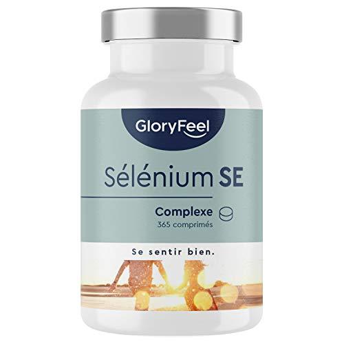 Sélénium Actif 220µg Dosage Élevé, 365 Comprimés Végétaliens pour le Support Thyroïdien - Premium Complexe of Sélénite de Sodium et L-sélénométhionine - Complément Alimentaire de Selen