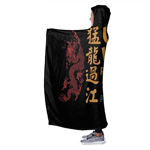 Textiles del hogar Ropa de Cama y Almohadas Mantas Hooded Blanket The Dragon and The Girl Spirited Away Super Soft Fleece Flannel Throw Blanket Hoodie Fit Bed Sofa Wearable for Kids Women Men