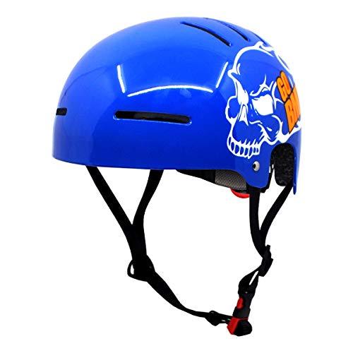 SPORX-Rヘルメットアウトドアスポーツの大人向け-スケートボード/サイクリング/bmx/CEおよびCPSC証明書付きスケート (光沢のある青 glossy blue, 55~60cm)
