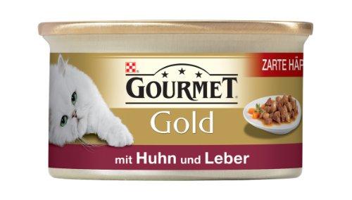 Gourmet Gold Zarte Häppchen in Sauce mit Huhn & Leber 85g Katzenfutter (24er Pack) von Purina
