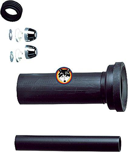 Wand-WC-Anschlussgarnitur 300 mm lang DN 110 für Keramag Icon , 4U verchromt
