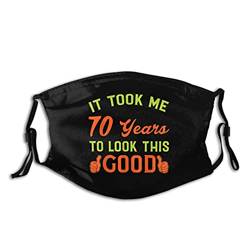 Mask- 70th Birthday Gift Celebrate A 70 Year Old Birthday Unique Face Mask Reusable Soft Comfortable Breathable for Men Women Black
