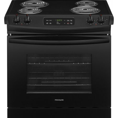 Frigidaire FFED3016TB 30 Inch Drop-In Electric Range with Coil Cooktop in Black