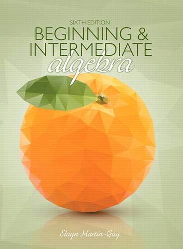 Beginning & Intermediate Algebra