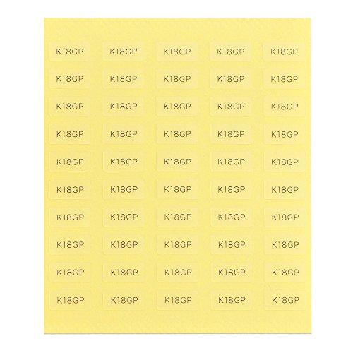 台紙用シール 10×5mm 日本製 アクセサリー台紙用 (K18GP・透明, 250枚)
