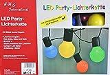 LED Party-Lichterkette 17,5 m mit 50 Kugel-Laternen bunt für innen und außen