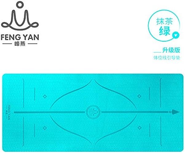 YOOMAT La Ligne de Niveau Yoga Mat Large Sexe Fitness Mat Starter Anti-Slip Mouvement épais Extensible Yoga Mat148344