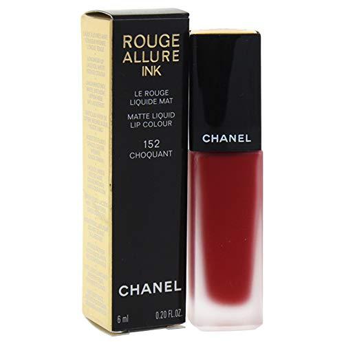Chanel ROUGE ALLURE INK MATTE LIQUID LIP COLOUR CHOQUANT barra de labios Rojo Mate 6 ml - Barras de labios (Rojo, CHOQUANT, 1 Colores, Hidratante, Protección, Mujeres, 152 - CHOQUANT)