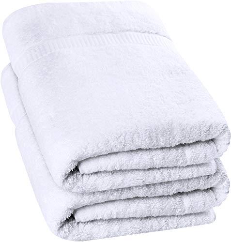 Utopia Towels - Badetuch groß aus Baumwolle 600 g/m², 2er Pack - Duschtuch, 90 x 180 cm (Weiß)