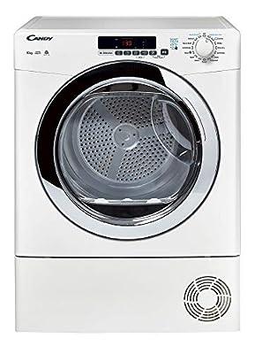 Candy Grand O'Vita GVSC10DCG Freestanding Condenser Tumble Dryer, Large Capacity, 10 kg Load, White