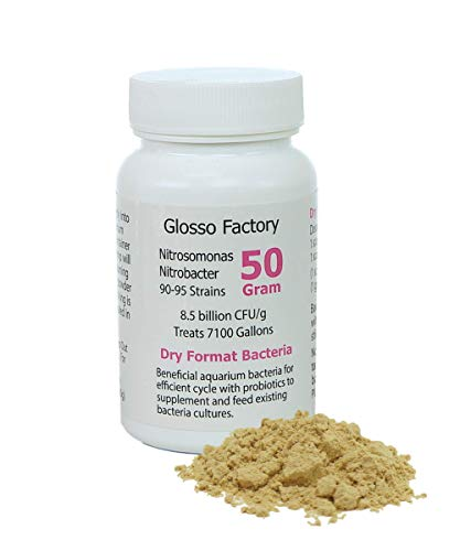 Glosso Factory Dry Format Bacteria 50g Treats 7100 gallons Fresh Water Aquariums