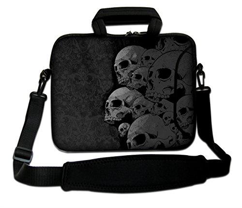 """15\""""- 15,6\"""" Zoll Tablet-Laptop-Notebook MacBook-Tasche mit Griff und Tragetasche Schutzhaut (15h/s Two Queens) (Skull Collection)"""