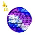 Pop It Accesorio Antiestrés Fidget Toy para Niños y Adultos, Juguetes Sensoriales, Estimula la Fluidez Mental con su Juego (Pop It Azul)