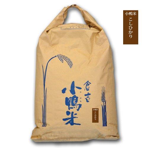新米 令和1年度産 鳥取県 倉吉市産 コシヒカリ 小鴨米 30kg 玄米 西日本