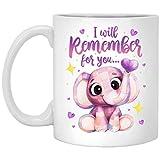 Yilooom Taza de café con idea de taza de té, 15 onzas, I Will-Remember For You Alzheimers