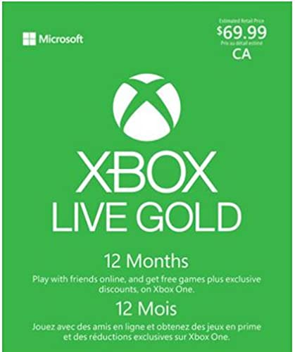 Microsoft Xbox LIVE 12 Month Gold Membership (Physical Card [can be used in U.S.] )