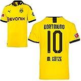 PUMA Borussia Dortmund BVB Heimtrikot 2019/20 Home Trikot Sponsor BL Logo Herren Mario Götze 10 Gr M