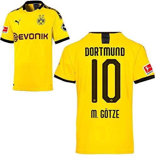 PUMA Borussia Dortmund BVB Heimtrikot 2019/20 Home Trikot Sponsor BL Logo Kinder Mario Götze 10 Gr 164