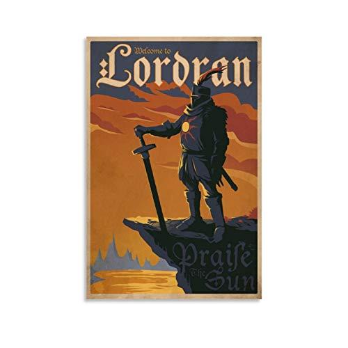 Huairen Demon's Souls - Welcome to LORDRAN Videogiochi Camera da giocatore regali Poster su tela per la decorazione della camera da letto famiglia bagno poster estetico 30 x 45 cm