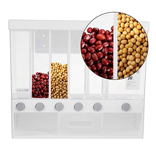 Crepuscolo Distributeur de céréales mural 6 en 1 et cuillère quantitative réglable pour cuisine