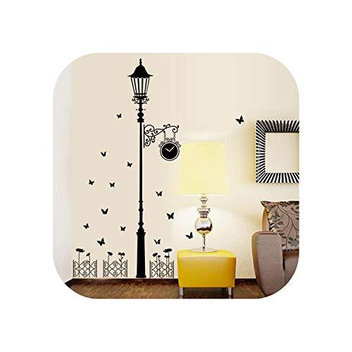 Badezimmer Wandaufkleber wasserdicht |Kreativer Zaun Antike Lampe Wandaufkleber Wand Wohnkultur Wohnzimmer Hintergrund Kunst Aufkleber Schmetterlinge Aufkleber Wallpaper-