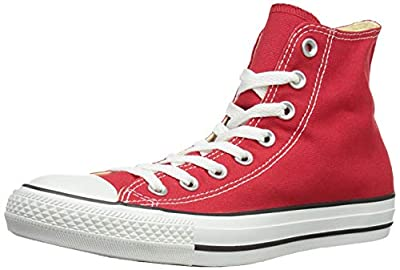 Converse Unisex Chuck Taylor Hi Basketball Shoe (3.5 Men 5.5 Women, Red) (Red, 10 B(M) US Women / 8 D(M) US Men) from