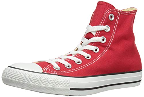 Chuck Taylor All Star Canvas High Top, Red, 7