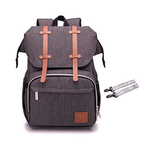 Boji Mochila para pañales Mummy Daddy, mochila para cochecito, bolso de mano, pañales de lactancia, maternidad, gran capacidad, soporte USB para calentar