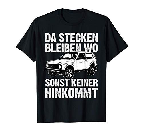 Lada Niva 4x4 Offroad Russland Geschenk T-Shirt
