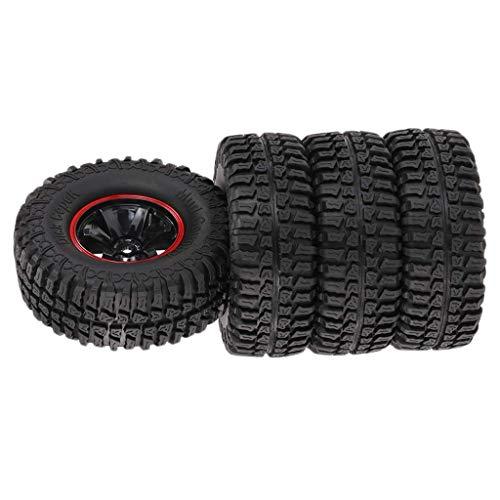 4st 1,9 tums 103mm 1/10 Rock Crawler däck och fälgar set för D90 SCX10 CC01 RC bil