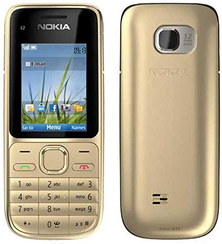 Nokia C2-01 C201 C2_01 Gold 3G UnLOCKED Sim, teléfono móvil libre