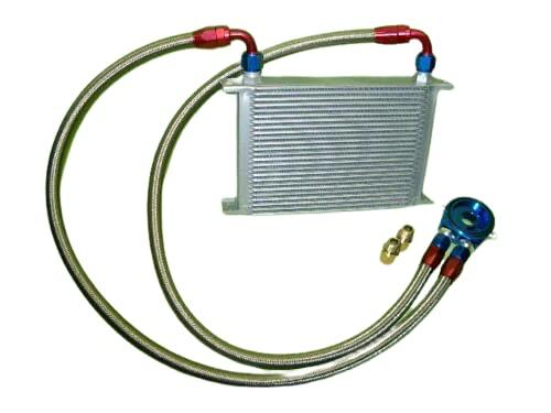 Burstflow Kit de reacondicionamiento universal para radiador de aceite, 16 filas AN10