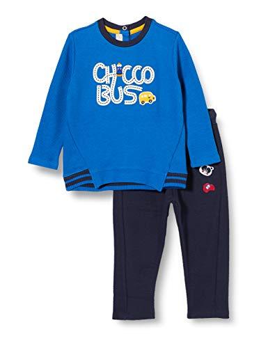 Chicco Dziecięcy kombinezon Completino Camicetta + Pantaloni Lunghi strój wieczorowy - zestaw, niebieski, 62 cm