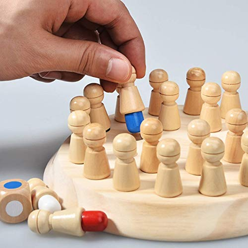 HUANGDANSEN Board Game Kids Party Game Wooden Memory Match Stick Chess Game Fun Block Board Game Educational Color Cognitive