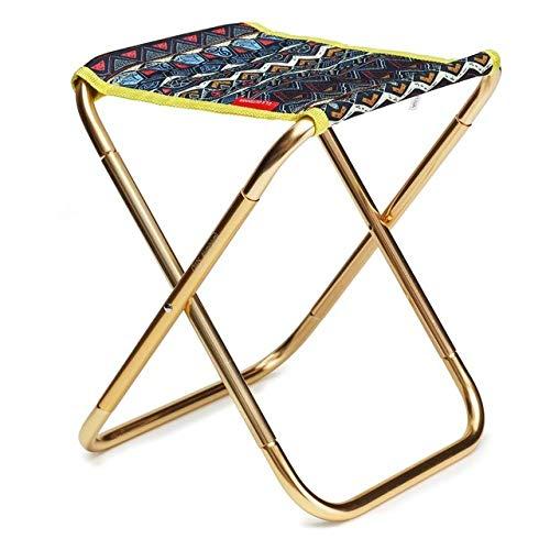 HSXQQL Klappstuhl Tragbare Klappstuhl Lager 100 KG Wandern Angeln Stuhl für Camping Tragbaren Hocker Picknick Im Freien Grill Kleinen Sitz, gelb