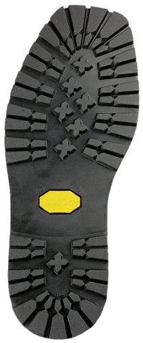 Vibram 1136 tiranti-black-- 1 paio di suole per scarpe da soles. riparazioni fai da te ideale per esterni, lumberjack, lavoro e walking shoes. la massima trazione e excelent abrasioni., 43/44 (12 x 31.5 cm)