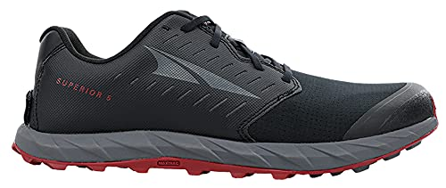 ALTRA Men's AL0A546Z Superior 5 Trail Running Shoe, Black/Red - 10.5 M US