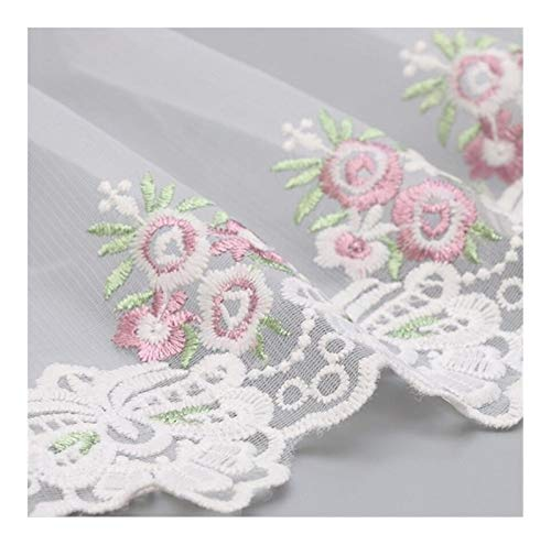 SSBH JXB - Accesorios de ropa hechos a mano con bordado floral de tela de encaje para sofá, borde de encaje (color: blanco)