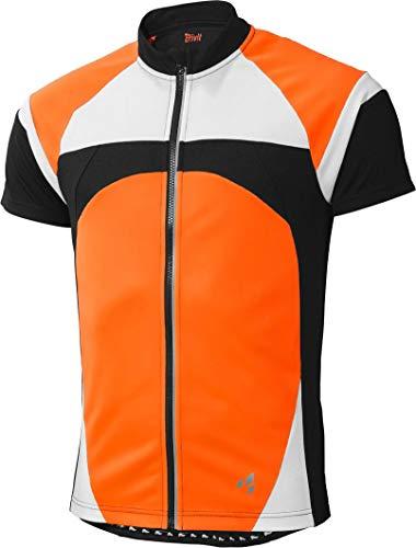 Crivit® Herren Fahrradshirt, Kurzarm (Gr. L 52/54, schwarz weiß Neonorange)