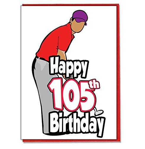 Golf/Golfer - 105th Verjaardagskaart - Mannen, Zoon, kleinzoon, Papa, Broer, Echtgenoot, Vriend, Vriend
