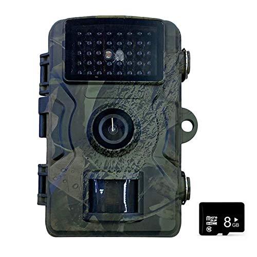 Blusea 12MP 1080P Wildkamera mit 32/16/8 GB SD Card 38 PCS Schwarze Infrarot-LEDs und IP66 Wasserdicht Jagdkamera