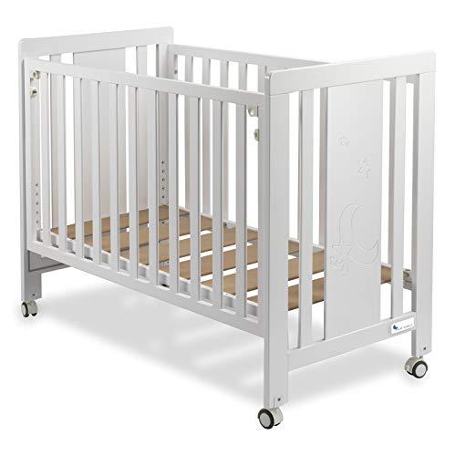 Premium Beistellbett Kinderbett Dream Plus Maxi 60x120 cm weiß lackiert   CUNA12