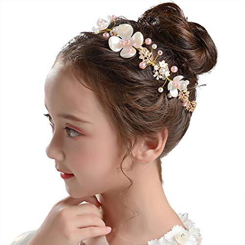 Campsis Pearl Wedding Headpiece Gold Princss...