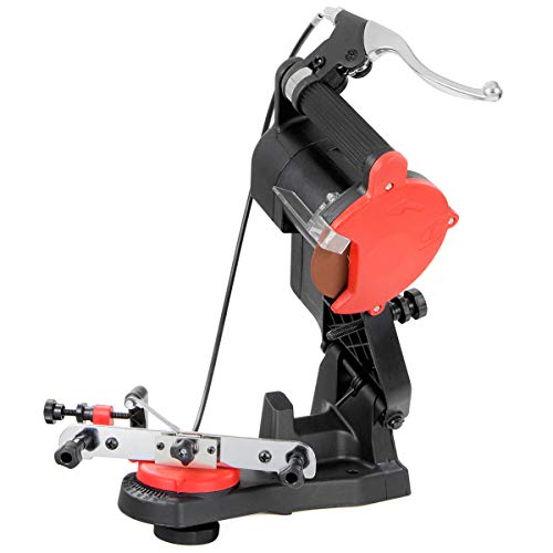 XtremepowerUS Electric Grinder Chain Saw Bench Top Sharpener Vise Mount 85W Mini Electric Chainsaw Grinder w/Brake