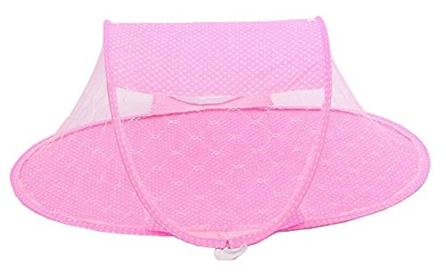Reisebett - Moskitonetz - Faltbett - Kinder - Kinder - Netz - Insektenschutz - Neugeborene - tragbar - Sonnensegel - atmungsaktives Netz - Farbe Rosa