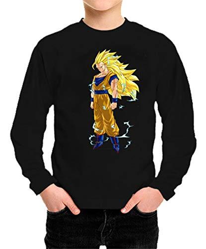 Camiseta Manga Larga de NIÑOS Dragon Ball Goku Vegeta Bolas de Dragon Super Saiyan 146 7-8 años